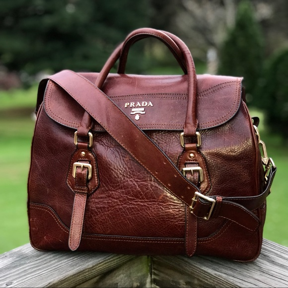 7f2bd434a31c Unique Vintage Leather Prada Purse. M_5bcd029395199626d23f793b